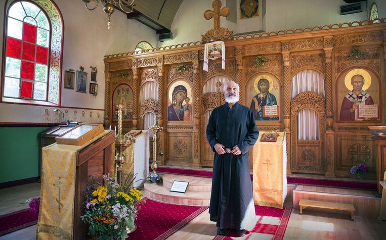 Het enige Russisch-orthodoxe klooster van Nederland is gevestigd in de voormalige Gereformeerde Kerk. Beeld Werry Crone