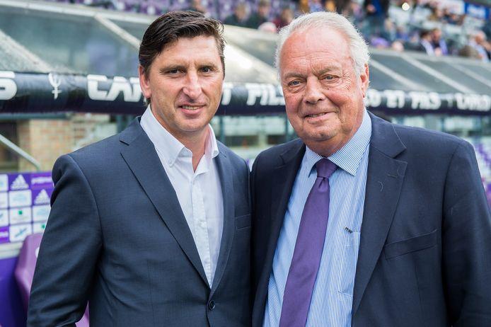 Luc Nilis samen met oud-Anderlechtvoorzitter Roger Vanden Stock in 2016.