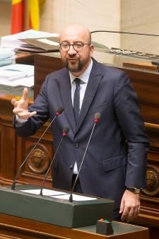 Met deze woorden kondigde de Belgische premier Michel de val van zijn regering aan