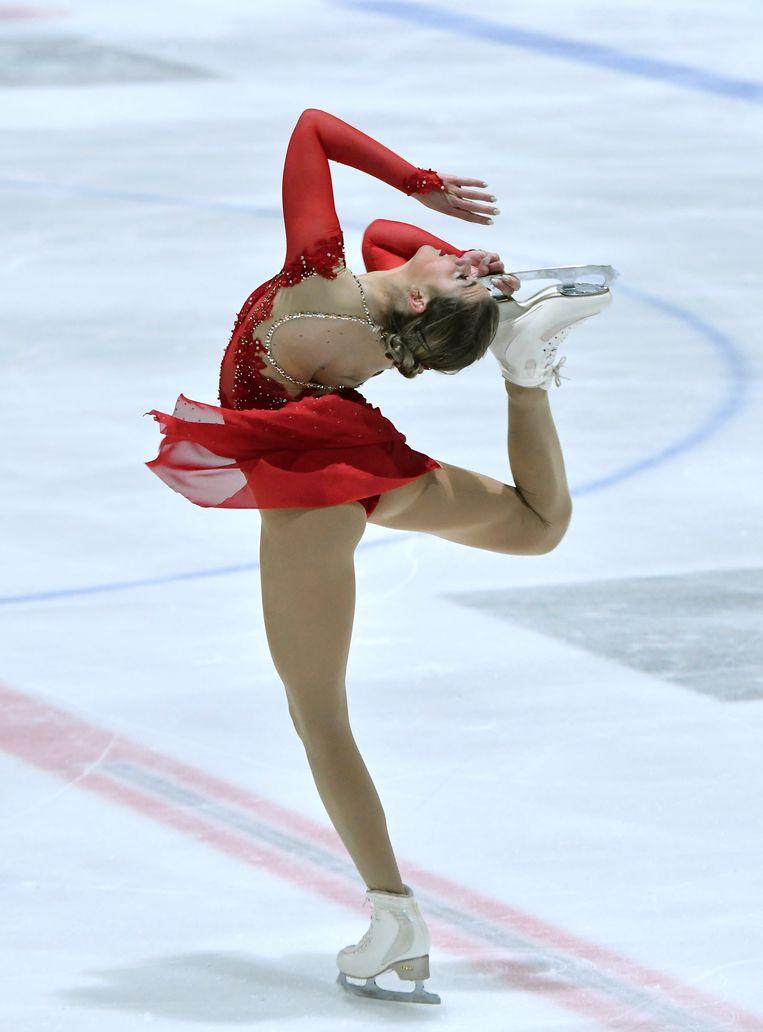 Niki Wories in actie tijdens de Challenge Cup in Den Haag. Beeld Hollandse Hoogte