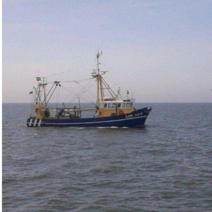 De gezonken Urker viskotter UK 165.