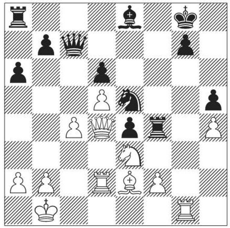 Vijfde speelronde, wit geeft op. Beeld -
