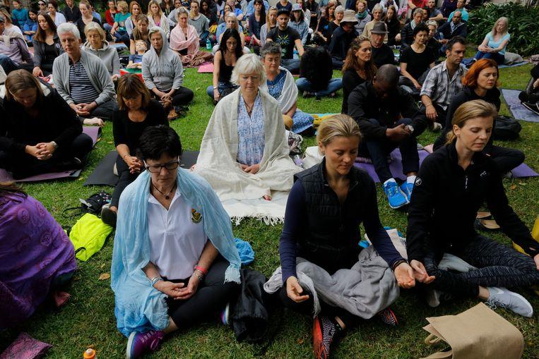 Mediteren in Johannesburg om Zuma's vertrek te bewerkstelligen Beeld EPA