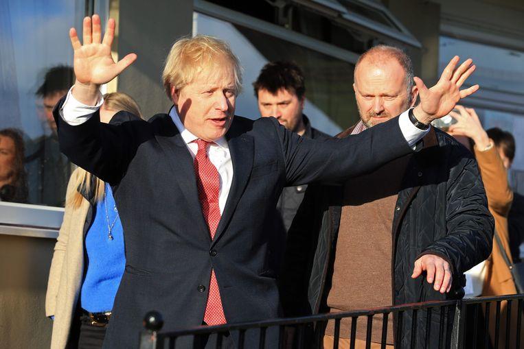 Boris Johnson na zijn overwinning.