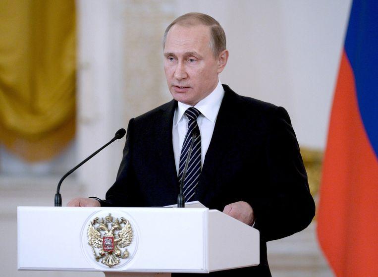 De Russische president Vladimir Poetin. Beeld null