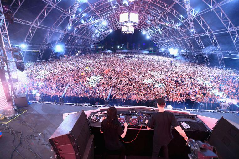 Skrillex op het Coachellafestival, eerder dit jaar. Beeld Getty Images for Coachella