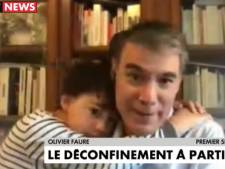 "Olivier Faure interrompu par un câlin de son fils en plein direct: ""Les miracles du confinement"""