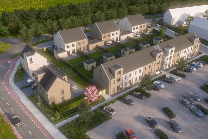 Een impressie van woningbouwproject Klein Stokland.