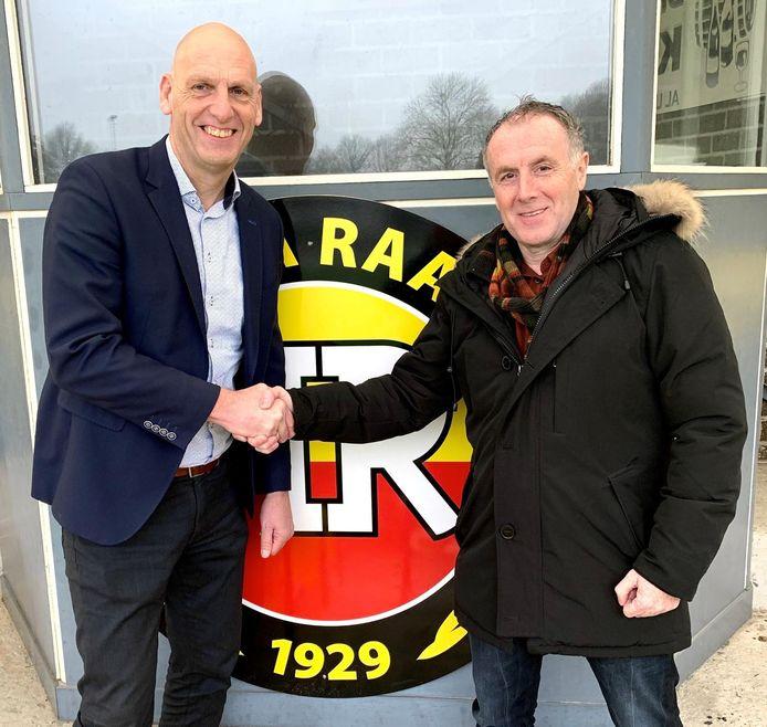 Laurens Knippenborg (rechts) is komend seizoen de nieuwe trainer van Rohda Raalte.