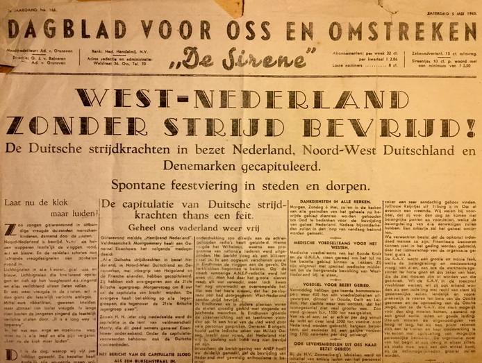 De Sirene van 5 mei 1945 die de bevrijding van Nederland aankondigde.