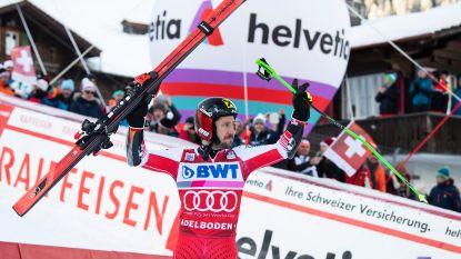 Marcel Hirscher wint reuzenslalom in Adelboden