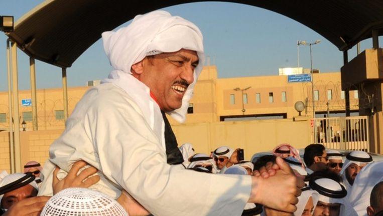 Voormalig parlementariër Mussallam al-Barrak Beeld epa