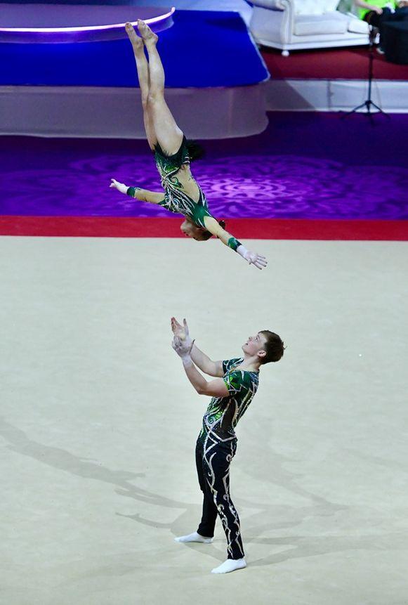 """""""Acrogym is een combinatie van balans, tempo en dans. Het zorgt voor spektakel"""", zegt Tuur."""