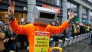 150 sympathisanten van Julian Assange betogen aan Britse ambassade in Brussel