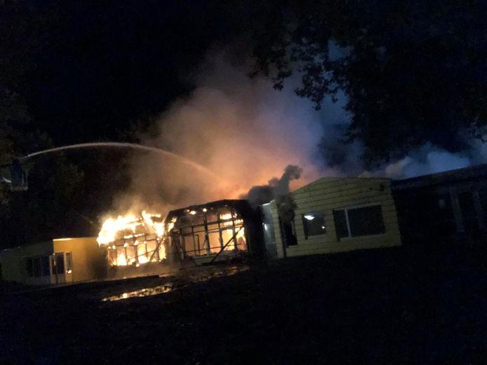 De brand in de basisschool in Uden.
