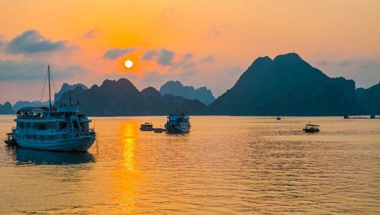 Archiefbeeld van de toeristenboten in de Ha Longbaai.