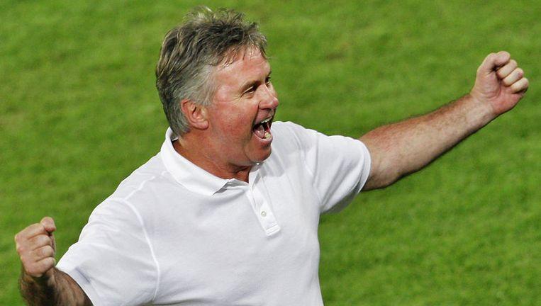 Hiddink was eerder bondscoach van Zuid-Korea, Australië en Nederland, en gaat nu het Turkse elftal leiden. Foto ANP Beeld