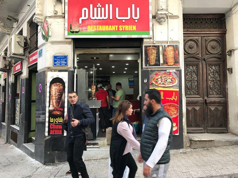 Snackbar de 'Syrische Poort' in Algiers Beeld rv