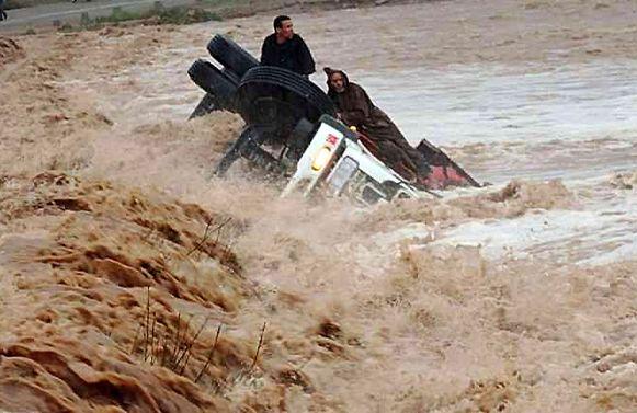 Overstromingen troffen het zuiden van Marokko ook al in november 2104, toen deze foto genomen werd. Archieffoto.