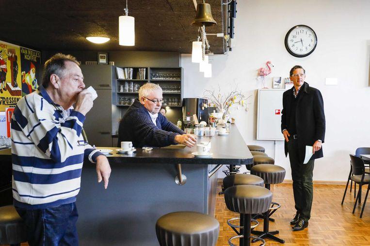 Joost Eerdmans van Leefbaar Rotterdam brengt zijn stem uit voor de gemeenteraadsverkiezingen. Beeld anp