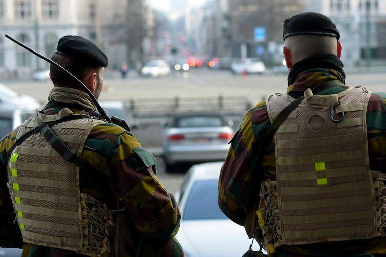 Soldaten in Brussel. Archieffoto.