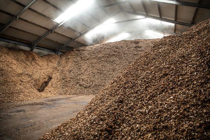 Opslag van biomassa, foto ter illustratie.