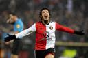 Yassin Ayoub scoorde als invaller in de voor Feyenoord historische thuiswedstrijd tegen Ajax (6-2).