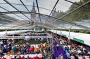 De grote tent van Bourgondisch op de parade.