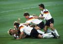 Duitsland viert het wereldkampioenschap in 1990.