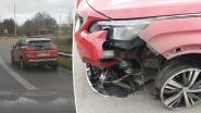 Heldhaftige burger rijdt dronken bestuurder in zwaar beschadigde auto klem op oprit E17 in Deinze