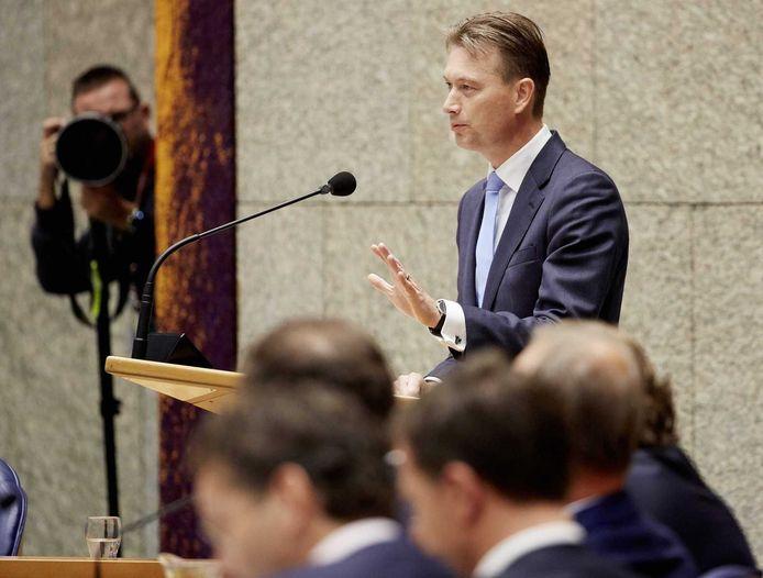 VVD-leider Halbe Zijlstra tijdens de beschouwingen.