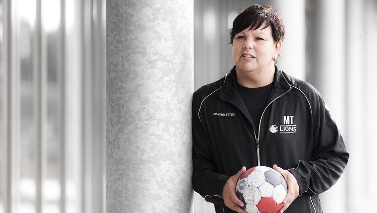 Monique Tijsterman, de nieuwe coach van de handballers van de Lions. Beeld Roger Dohmen
