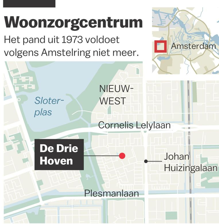 De Drie Hoven moet sluiten, stelt zorginstelling Amstelring in oktober in een voorgenomen besluit Beeld Laura van der Bijl