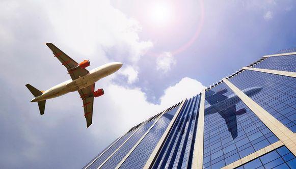Een vliegtuig boven Brussel. Foto ter illustratie.