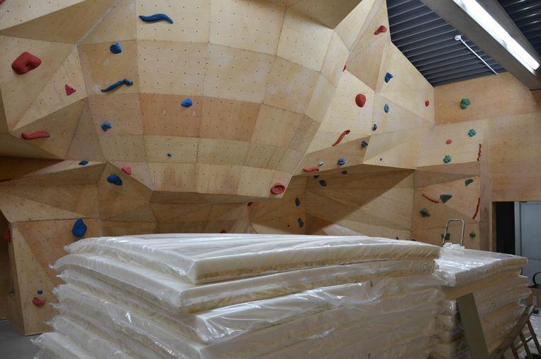 De nieuwe klimzaal gaat volgende week vrijdag open voor het publiek.