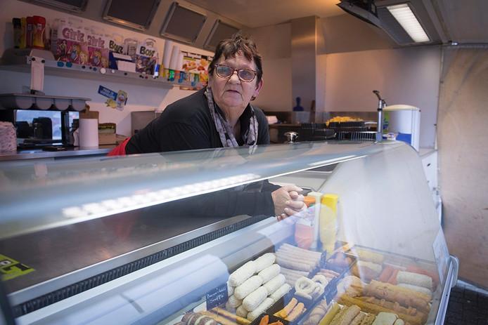 De 63-jarige frietverkoopster Geertje Enneman