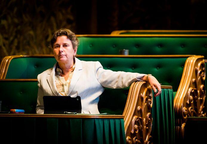 Marjolein Faber (PVV) tijdens een debat.