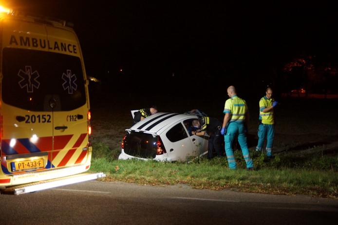 Aan de Waalwijksebaan in Kaatsheuvel vond in de nacht een ongeval plaats.