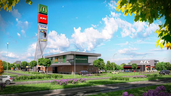 Een impressie van de McDonalds-vestiging