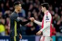 Cristiano Ronaldo en Jurgen Ekkelenkamp