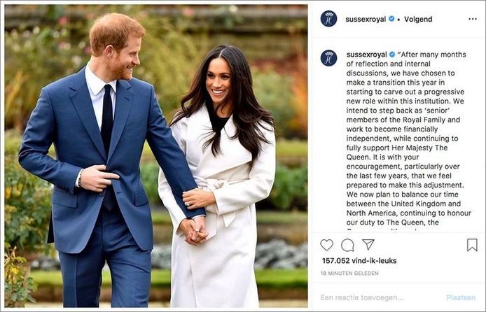 Harry et Meghan ont annoncé prendre leurs distances avec la famille royale.
