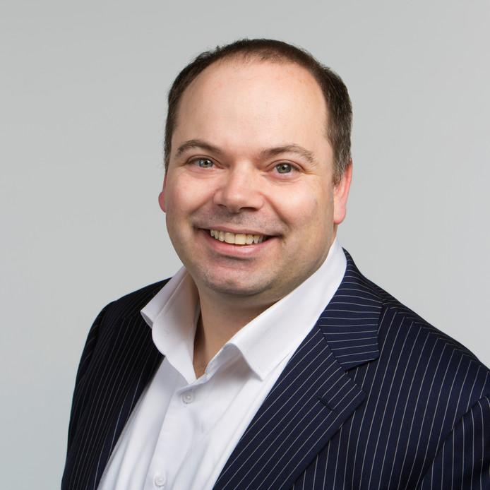 Patrick Simons, raadslid voor de VVD in Oisterwijk.