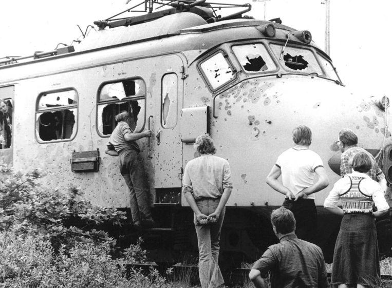 De bestormde trein. Beeld anp