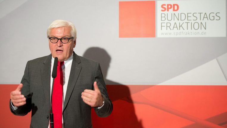 Frank-Walter Steinmeier, vorige week. Beeld epa