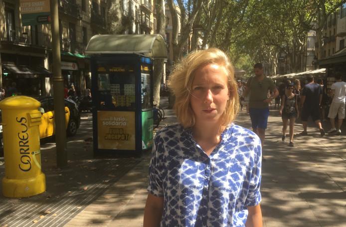 Carlijn Teeven op de Ramblas in Barcelona.