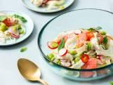 Ceviche van zeebaars met venkel en grapefruit