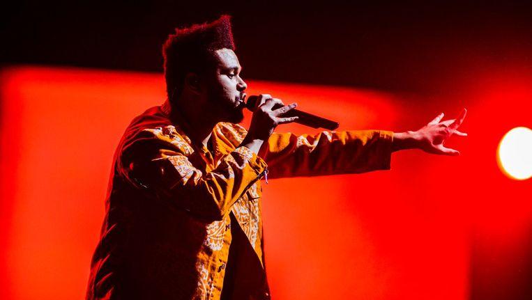 Abel Makkonen Tesfaye tijdens het optreden in de Ziggo Dome. Beeld anp