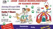 Familiewandelzoektocht, Vlaamse kermis en quiz ten voordele van dierenasiel