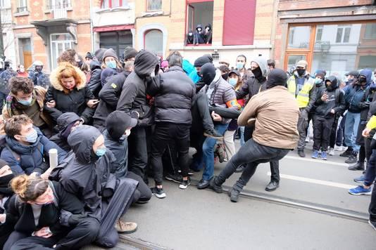 La police a procédé à plusieurs arrestations.