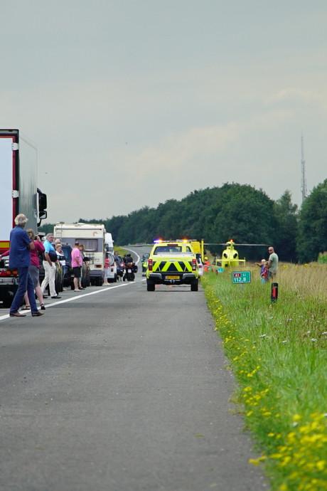 A1 bij Bathmen weer open na ernstig ongeval
